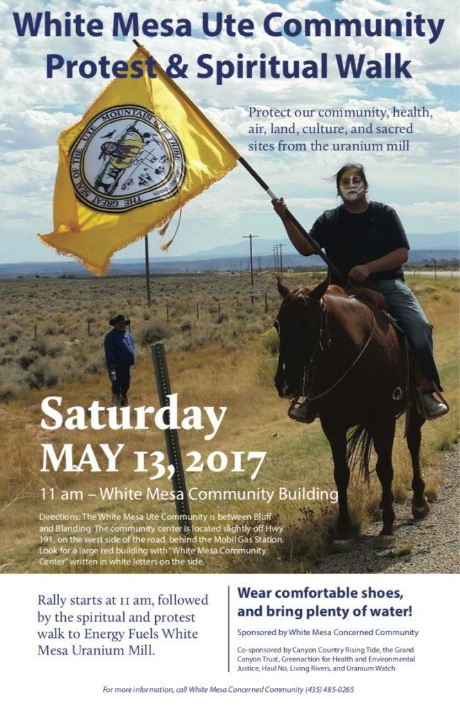 White Mesa Mil Protest Flyer