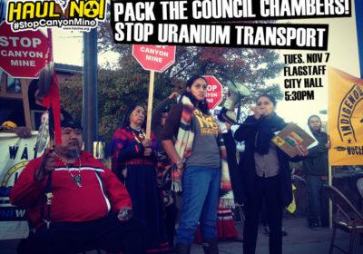 Pack Flagstaff Council Chambers! Stop Uranium Transport